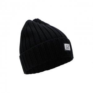 Шерстяная шапка C.P. Company. Цвет: чёрный