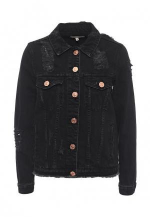 Куртка джинсовая River Island RI004EWSCI66. Цвет: черный