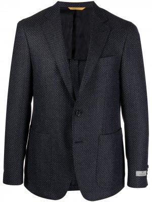Однобортный пиджак Kei Canali. Цвет: синий