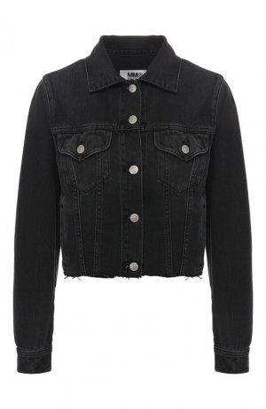 Джинсовая куртка Mm6. Цвет: черный
