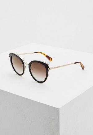 Очки солнцезащитные Love Moschino MOL006/S 807. Цвет: черный