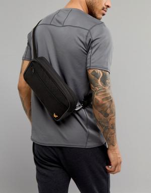 Черная сумка-кошелек на пояс Sports Lyle & Scott Fitness. Цвет: черный