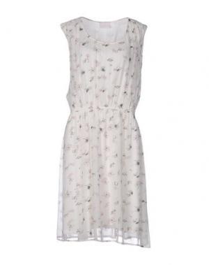 Платье до колена KAFFE. Цвет: белый