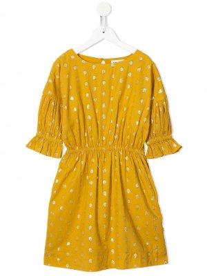 Платье в горох Molo. Цвет: желтый