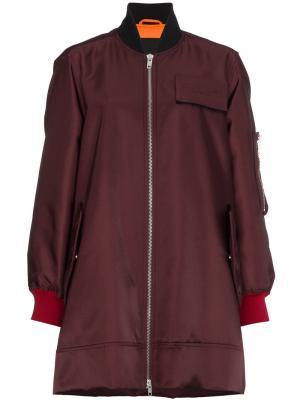 Длинная куртка-бомбер на молнии Calvin Klein 205W39nyc. Цвет: красный