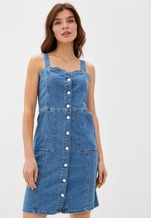 Платье джинсовое DeFacto. Цвет: синий