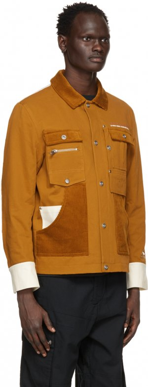 Brown Hexagon Work Jacket Li-Ning. Цвет: 1-brown