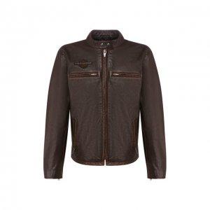 Кожаная куртка 1903 Harley-Davidson. Цвет: коричневый