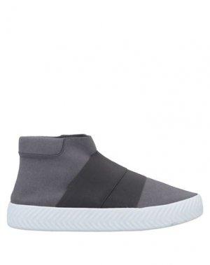 Полусапоги и высокие ботинки FESSURA. Цвет: серый