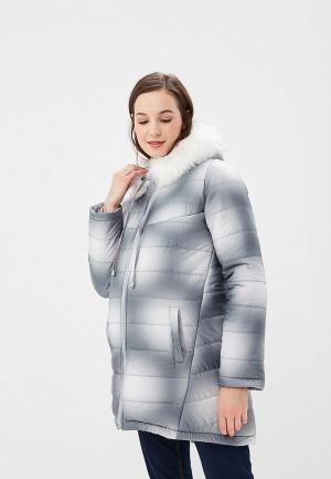 Куртка утепленная Очаровательная Адель. Цвет: серый