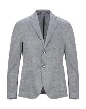 Пиджак VINCENT TRADE. Цвет: серый