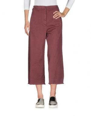 Джинсовые брюки-капри BRUNELLO CUCINELLI. Цвет: красно-коричневый