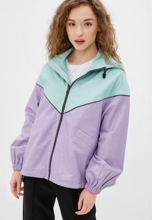 Куртка кожаная Pepe Jeans. Цвет: фиолетовый