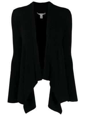 Кардиган асимметричного кроя в рубчик Autumn Cashmere. Цвет: черный