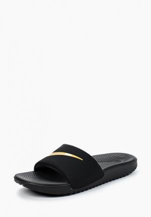 Сланцы Nike BOYS KAWA (GS) SLIDE. Цвет: черный