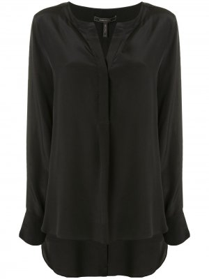 Блузка с длинными рукавами BCBG Max Azria. Цвет: черный