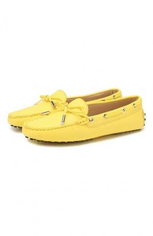 Кожаные мокасины Heaven Tod's. Цвет: жёлтый