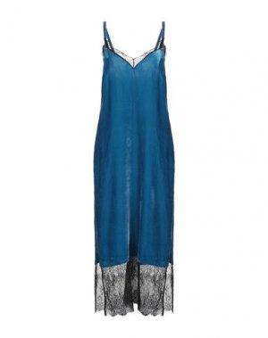 Длинное платье TWINSET. Цвет: цвет морской волны