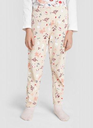 Пижама для девочек O`Stin. Цвет: белый