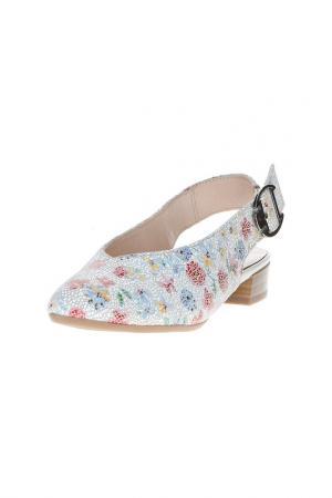 Туфли открытые Alpina. Цвет: бежевый