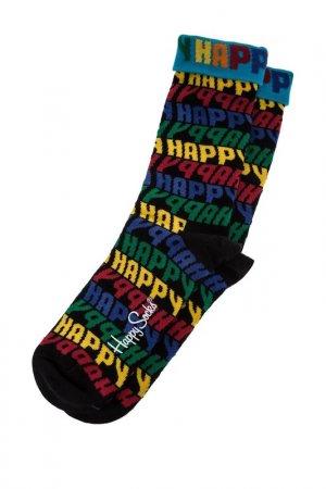 Носки HAPPY SOCKS. Цвет: мультицвет, черный