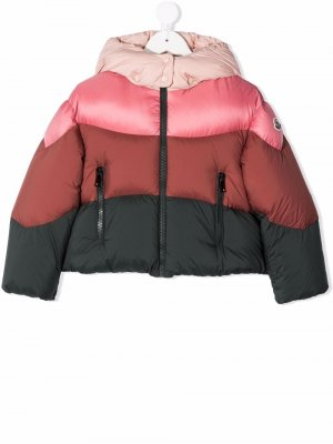 Colour-block feather-down puffer jacket Moncler Enfant. Цвет: розовый