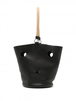 Сумка-ведро Mangeoire MM 2005-го года Hermès. Цвет: черный