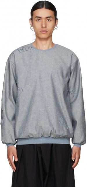 Grey Logo Sweatshirt Bless. Цвет: lt denim