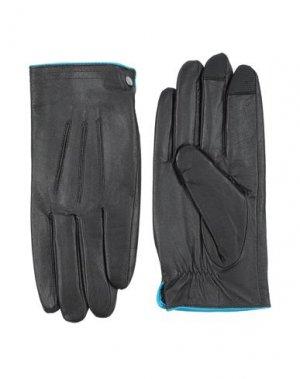 Перчатки PIQUADRO. Цвет: черный