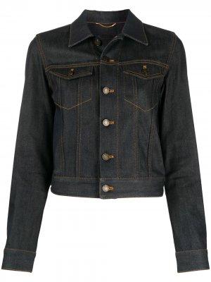 Джинсовая куртка на пуговицах Saint Laurent. Цвет: синий
