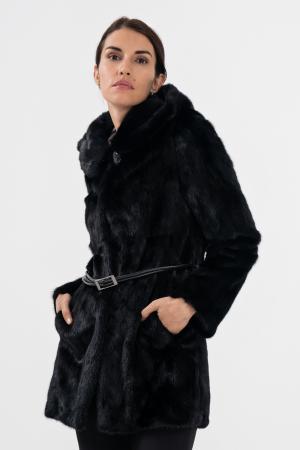 Норковая шуба с капюшоном Fellinberg