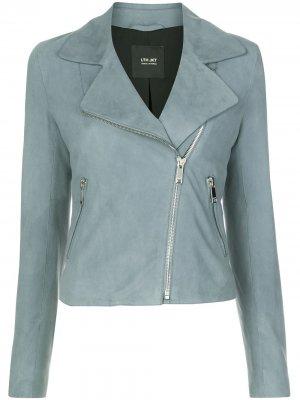 Байкерская куртка Flo Lth Jkt. Цвет: синий