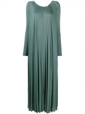 Плиссированное платье Dolores Max Mara. Цвет: серый
