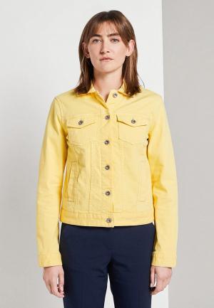 Куртка джинсовая Tom Tailor. Цвет: желтый