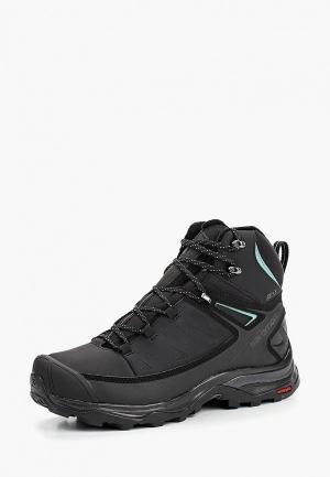 Ботинки Salomon X ULTRA MID WINTER CS WP W. Цвет: черный