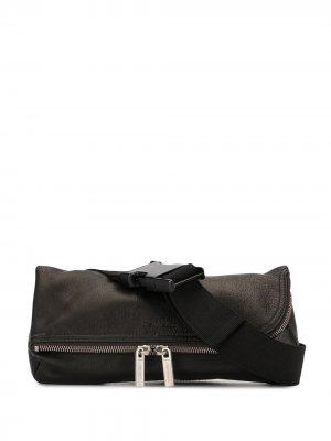 Маленькая поясная сумка Rick Owens. Цвет: коричневый