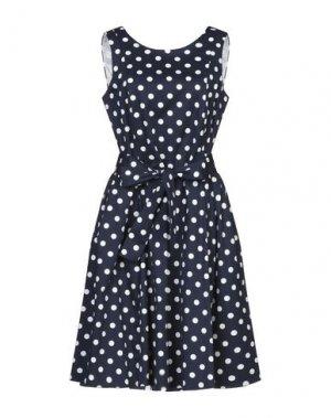 Короткое платье CLUB VOLTAIRE. Цвет: темно-синий