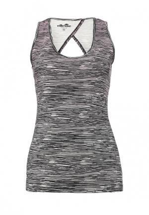 Майка спортивная Ellesse LINES SLEEVELESS T-SHIRT. Цвет: серый