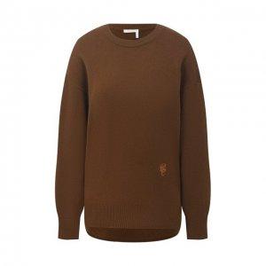 Кашемировый пуловер Chloé. Цвет: хаки