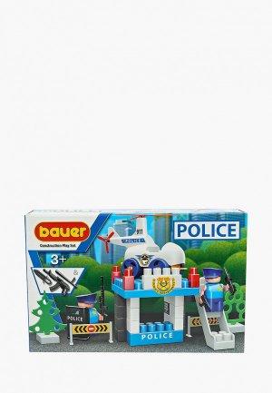 Конструктор Bauer Полиция, набор Вертолетная площадка. Цвет: разноцветный