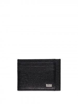 Картхолдер с логотипом BOSS. Цвет: черный