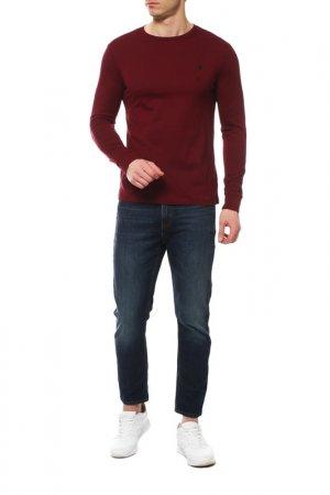 Кофта с длинным рукавом Polo Ralph Lauren. Цвет: бордовый