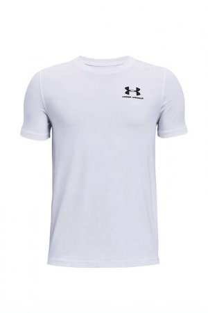 Футболка Ua Cotton Ss Under Armour. Цвет: белый