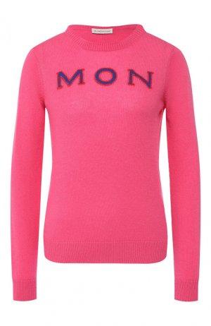Кашемировый пуловер Moncler. Цвет: розовый