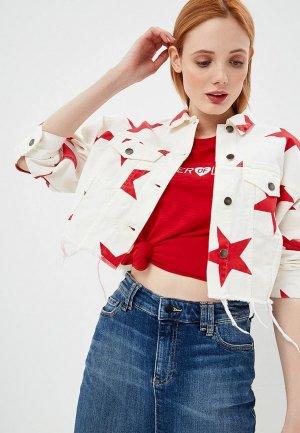 Куртка джинсовая Front Street. Цвет: белый