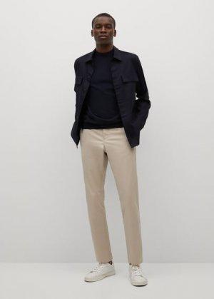 Укороченные брюки-чинос - Dublin Mango. Цвет: бежевый