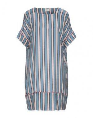 Короткое платье EMMA & GAIA. Цвет: пастельно-синий
