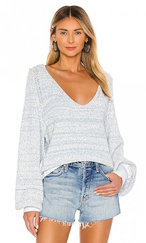 Пуловер riptide Free People. Цвет: синий