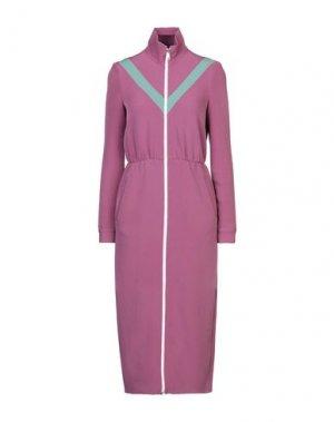 Платье длиной 3/4 ALEXANDR ROGOV. Цвет: розовато-лиловый