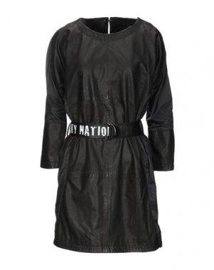 Короткое платье FREAKY NATION. Цвет: черный